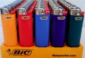 Bic disposable lighters to start a fire