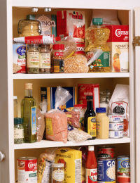 Food storage in pantry
