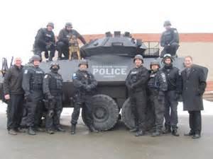Militarized police, police state