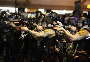 Militarized police during grid-down, ready to kill civilians to get whatever they want and to remain in power.