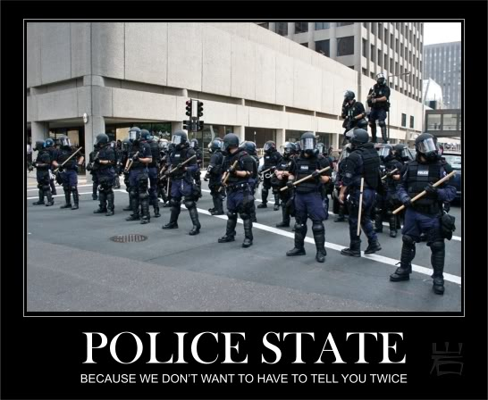 Police State during grid-down.