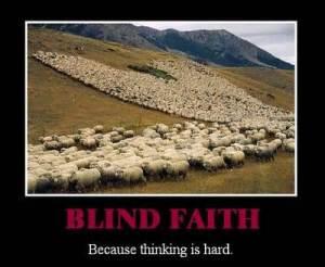 Sheeple, badge bias, normalcy bias, blind faith