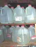 Water stored in milk jugs a bad idea.