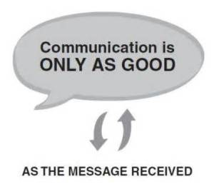 Good communications under stress is essential.