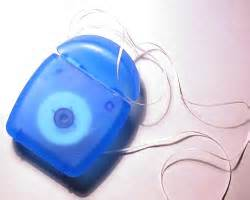 Dental floss as suture in an emergency.