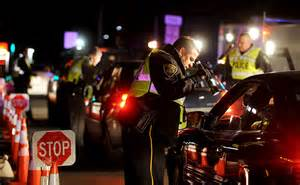 Cops are herding dogs at DUI checkpoint.