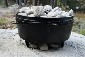 Controlling temperature when cooking in a Dutch Oven.
