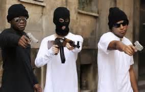 Gang members with guns in grid-down