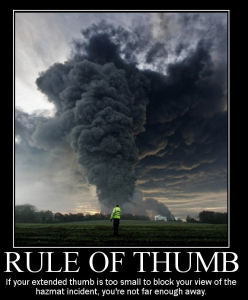 firefighter Rule of Thumb