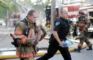 Sheep dog rescuing child