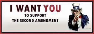 Support Bill of Rights Second 2nd Amendment to the Constitution for gun ownership