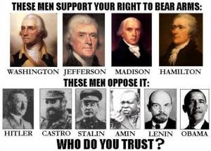 Liberals, democrats. progressives, statists, communists, socialists support gun control and restrictions.