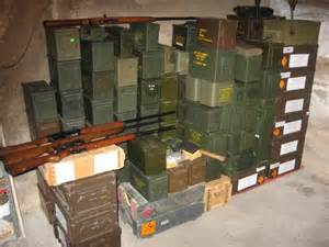 about the right amount of ammunition in storage. you can never have enough ammunition.