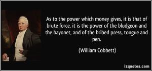 Money and Power - William Cobbett