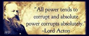 money and power go to the government at the expense of the people