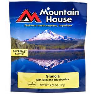 Mountain House Granola with Milk Bluberries