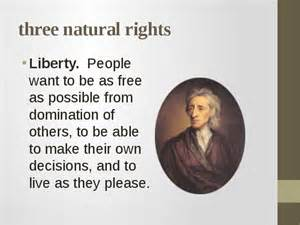 Natural Rights are god-given rights to individuals not governments