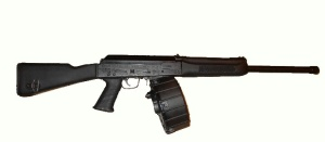 Shotgun Saiga12 - with Promag 20round drum magazine