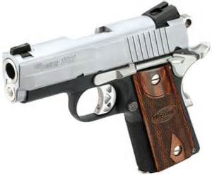 Sig Sauer 1911 Ultra Compact is an excellent large caliber conceal carry pistol.