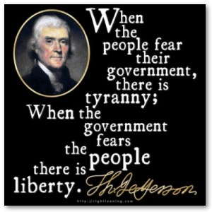 money and power used by the federal government creates tyranny at the loss of rights and freedom.