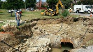 Water Main Broken city water supply fails