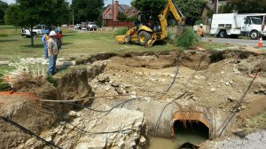 Water Main Broken city water supply fails