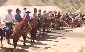 Bundy ranch cowboy patriots stand off against federal forces at bundy ranch