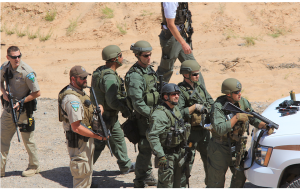 BLM special agents and rangers prepare to make final assault and open fire on Americans at bundy ranch.