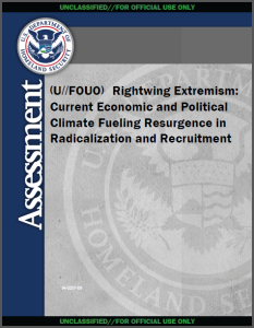 FBI & DHS report on rightwing extrmeism and domestic terrorists