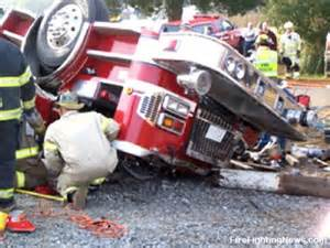 Fire Engine Wreck is more serious firefighter risk than getting burned