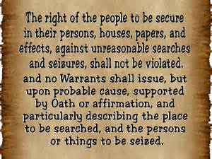 Fourth Amendment - 4th amendment - bill of rights - constitution