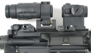 Aimpoint Micro T-1 with the Aimpoint 3xMag magnifier on the Aimpoint TwistMount