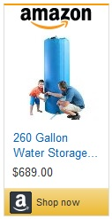 Surewater 260gal water Tank for sale