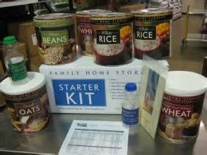 LDS - Starter Kits food storage : Church of Jesus Christ of Latter-Day Saints home center food storage starter kit