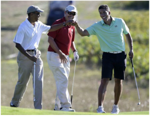 Obama goes golfing and fund raising after mass murder at charleston, sc church