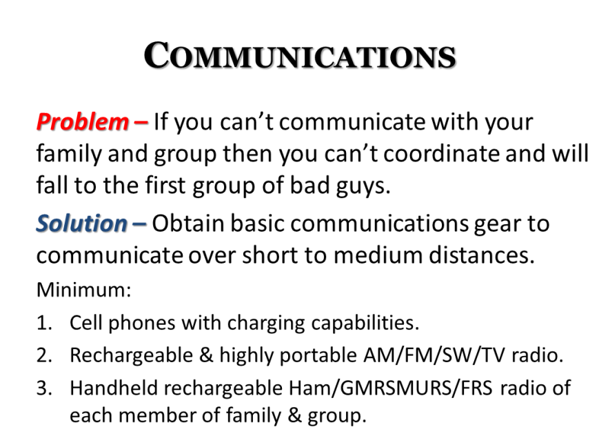 disaster emergency grid-down basics - communications