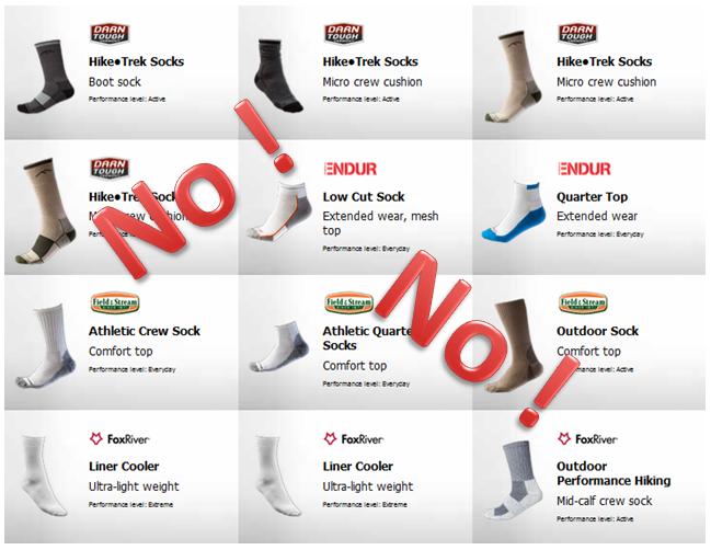 Socks CoolMax socks horrible terrible