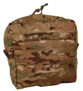 "ATS Tactical large GP pouch in Multicam (9""H x 8""W x 3""D) ATS-0029"