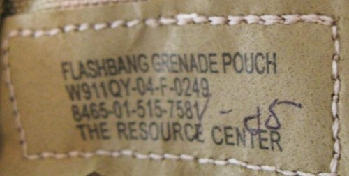 military surplus flashbang grenade pouch NSN 8465-01-515-7581