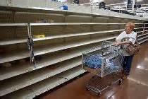 Economic Warning - store shelves bare