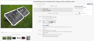 eBay GlowTech - Glow Tech 60w dual solar panel system 30w solar panels