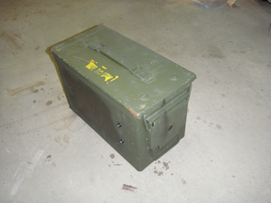 View #1 - from front-right corner of the secured ammo can.