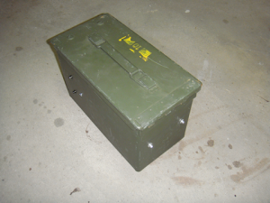View #2 - from rear-left corner of the secured ammo can.