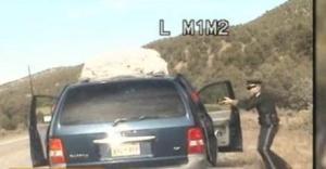 New Mexico State Trooper Elias Montoya shots at minivan full of children