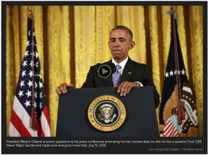 Obama Scolds Major Garrett during press conference