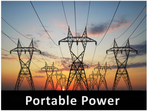 Portable power box solar charging rechargeable