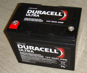 Duracell Ultra battery 12v 35Ah AGM, model # DURA12-35C