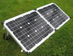 Power Box - dual solar panel portable foldable kit