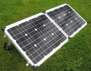 Glow Tech solar Power Box 60 watt folding solar kit, w/folding stand, charge controller