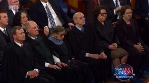 Obama threatens supreme court justices during the state of the union message